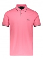 Paul Curved Polo Shirt - Light Red