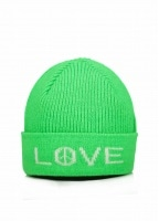 Paul Smith Peace Love Neon Hat - Bottle Green