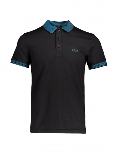 Boss Athleisure Paule Polo 002 - Black