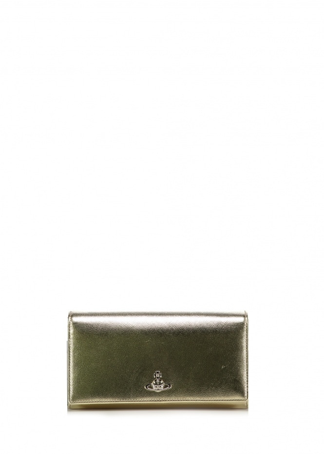 Pimlico Long Wallet - Gold