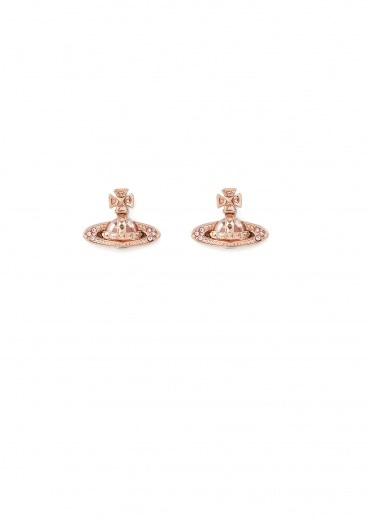 Vivienne Westwood Accessories Pina Bas Relief Earrings - Pink Gold / Rose