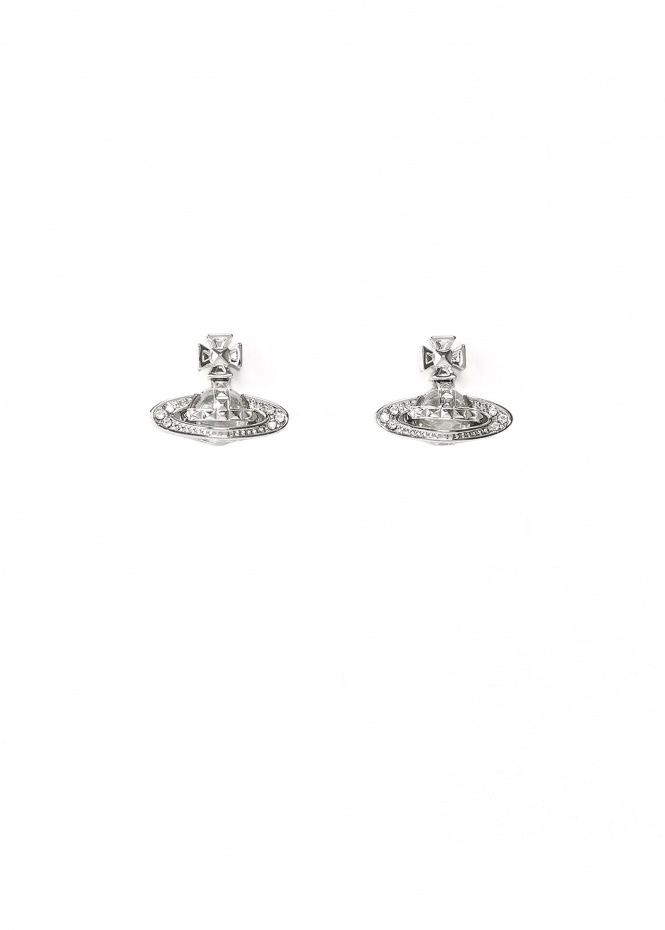 Pina Bas Relief Earrings - Rhodium