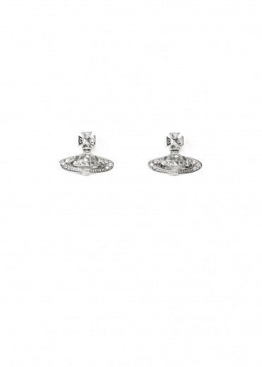 Vivienne Westwood Accessories Pina Bas Relief Earrings - Rhodium