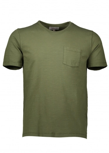 Hawksmill Denim Co Pocket T-Shirt - Olive