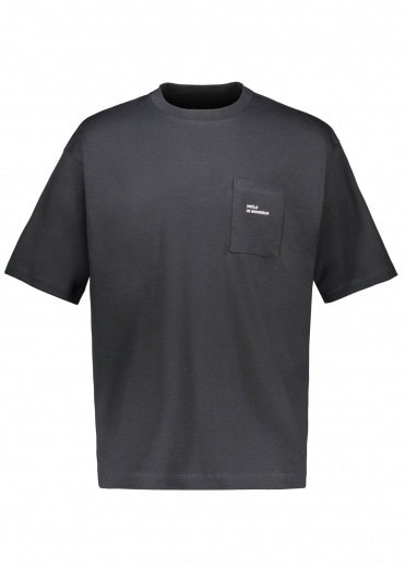 Drôle de Monsieur Pocket Tee Loose Fit - Black