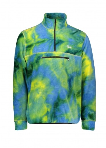 Stussy Polar Fleece Mock Neck - Tie Dye