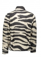 Polar Fleece Mock Neck Zebra