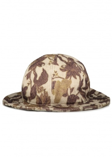 Snow Peak Printed Bucket Hat - Beige
