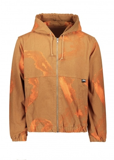 Stussy Printed Canvas Work Jacket - Clay