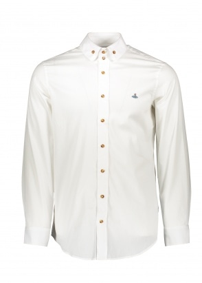 Vivienne Westwood Mens 2 Button Collar Shirt 100 - White