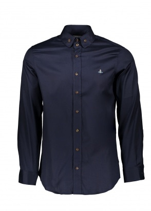 Vivienne Westwood Mens 2 Button Collar Shirt 524F - Navy