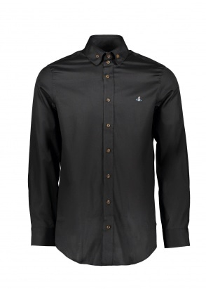 Vivienne Westwood Mens 2 Button Collar Shirt 900 - Black