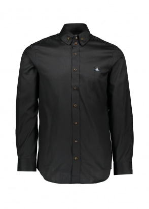 Vivienne Westwood Mens 2 Button Collar Shirt - Black
