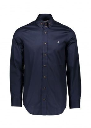 Vivienne Westwood Mens 2 Button Collar Shirt - Navy