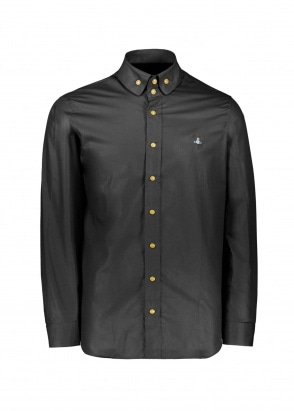 Vivienne Westwood 2 Button Krall Shirt - Black