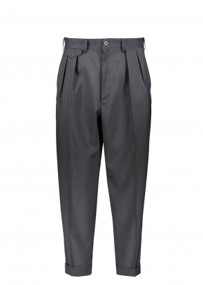 Beams Plus 2 Pleats Trousers Wool Tropical - Dark Navy