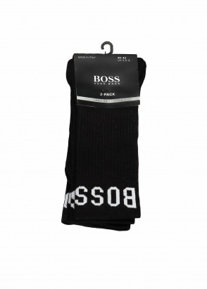 Hugo Boss 2P RS Sport Socks - Black
