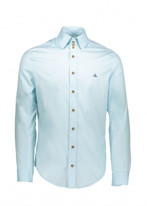 Vivienne Westwood Mens 3 Button Shirt - Light Blue