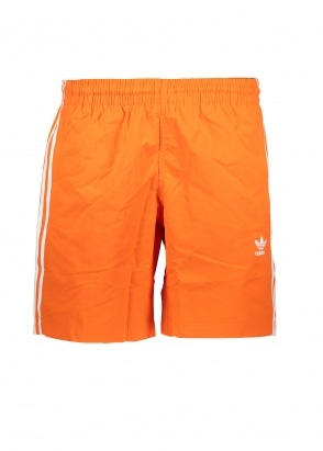 adidas Originals Apparel 3 Stripe Swim Shorts - Orange