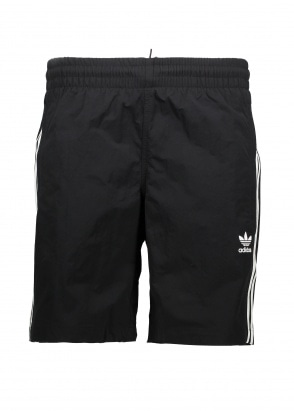adidas Originals Apparel 3 Stripes Swim Shorts - Black