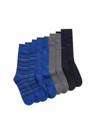 Hugo Boss 4P Gift Set Socks 401 - Dark Blue