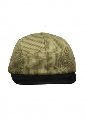 Beams Plus 5 Panel Cap Suede Corduroy - Olive