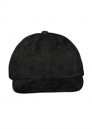 Beams Plus 6 Panel Cap Suede - Black