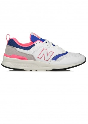 New Balance  997 Trainers - White / Pink