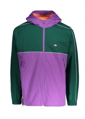 adidas Originals Apparel Shell Jacket - Purple / Green