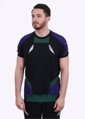 adidas x Kolor SS Hybrid Tee - Purple / Black/ Green