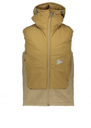 And Wander  Top Fleece Vest - Beige