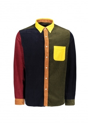 Beams Plus B.D Pattern Corduroy Shirt - Yellow
