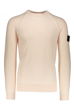 Stone Island Badge Sweater - Salmon