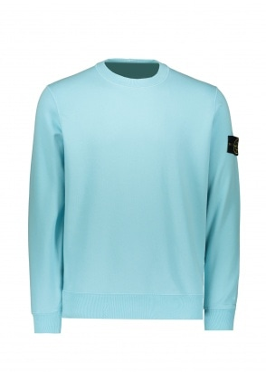 Stone Island Badge Sweatshirt - Acqua