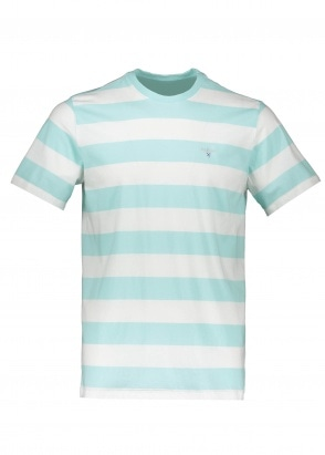 Barbour Beach Stripe Tee - Aqua Marine