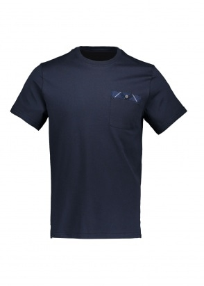 Barbour Durness Pocket Tee - Navy