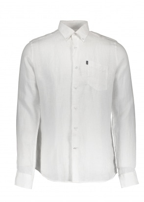 Barbour Linen 1 Tailored Shirt - White