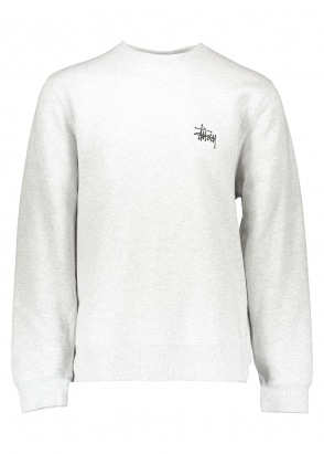 Basic Stussy Crew - Ash Heather