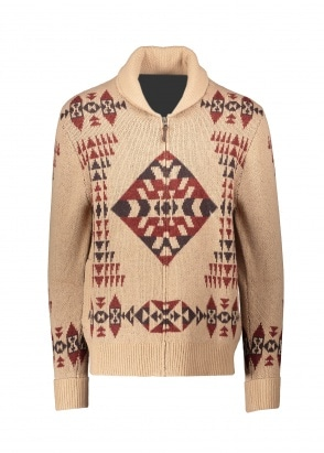 Pendleton Basket Maker Zip Cardigan - Tan
