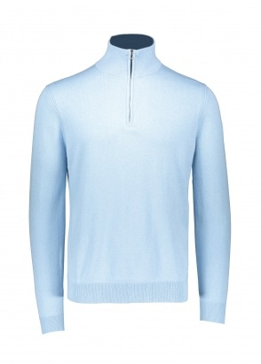 Belstaff Bay Half Zip - Sky Blue