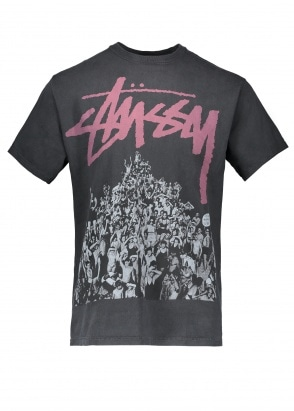 Stussy Beach Mob Pigment Dyed Tee - Black