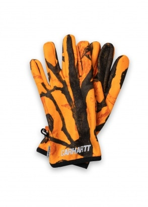 Carhartt WIP Beaufort Gloves - Orange / Reflective