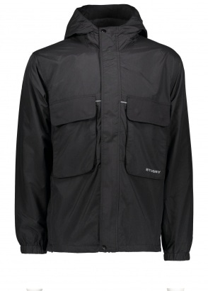 Stussy Big Pocket Shell Jacket - Black