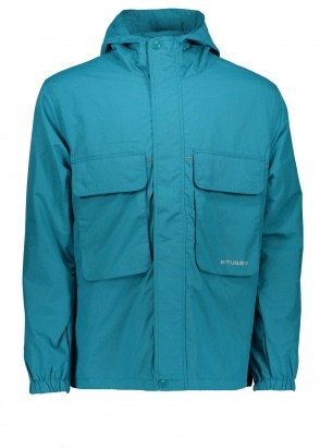 Stussy Big Pocket Shell Jacket - Teal