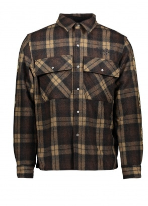 Billionaire Boys Club Quilted Check Shirt - Brown