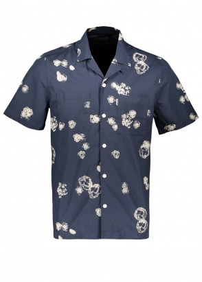 Wood Wood Brandon Graphic Shirt SS - Blue