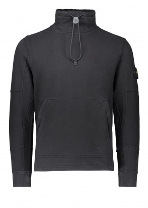 Stone Island Brush Cotton Sweatshirt - Black