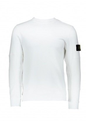 Stone Island Brushed Cotton Sweat - White