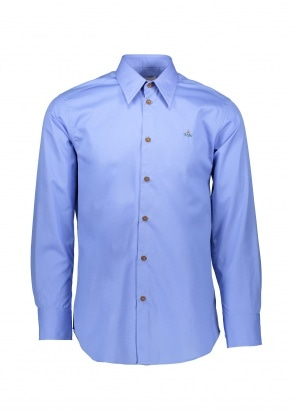 Vivienne Westwood Mens Button Down Shirt - Blue