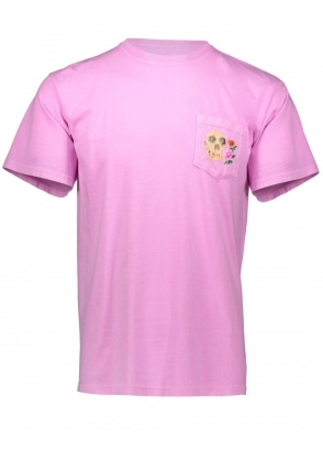 Stussy Calavera Pigment Dyed Pkt Tee - Pink